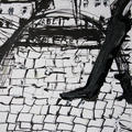 Ceija Stojka: Work Makes You Free. Nearby the No 11  Block. The Deadly Place, 1943, 2009 (Indian ink on paper)
